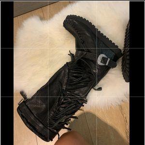 El vaquero mokkasin wedge boots